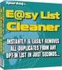 Easy E-Mail List Cleaner With Master Resale RIghts