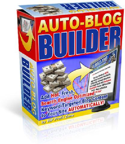 Product picture *NEW* Auto Blog Builder  with Resell Rights