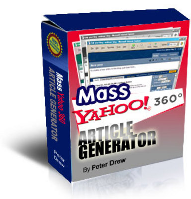 Product picture MASS Yahoo Blog 360 Article Generator